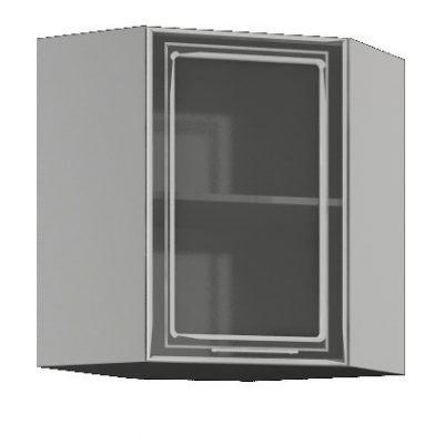 Шкаф угловой со стеклом ШВУС-550*550 «Виста» (иц)