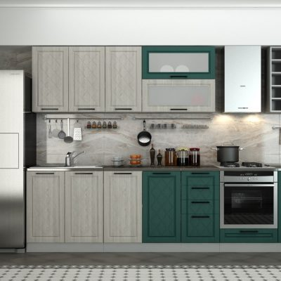 Кухонный гарнитур 3,60 м «Барселона» комбинир. (иц)