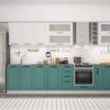 Кухонный гарнитур 3,60 м «Барселона» комби 1 (иц)