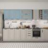 Кухонный гарнитур 3,60 м «Барселона» комби 2 (иц)