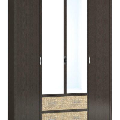 Шкаф 4-х створчатый с зеркалом ДСШ-8(33) «Джульетта» (т)