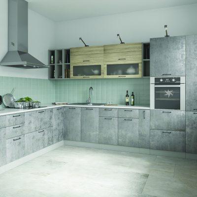 Модульная кухня «Лофт» угловая 3 (Д)