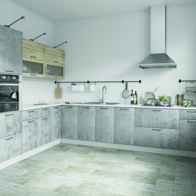 Модульная кухня «Лофт» угловая 4 (Д)