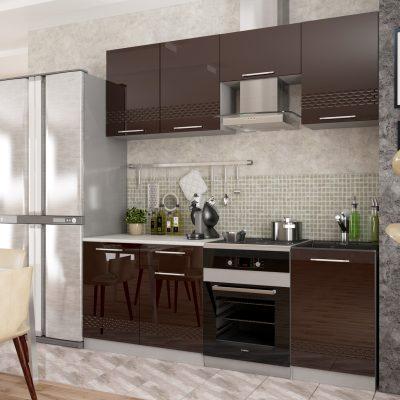 Модульная кухня «Капля» 2100 мм. (Д)