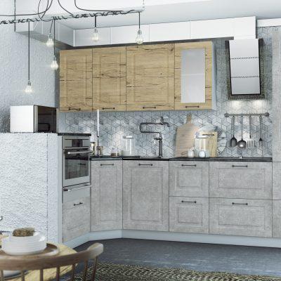 Модульная кухня «Капри» угловая 4 (Д)