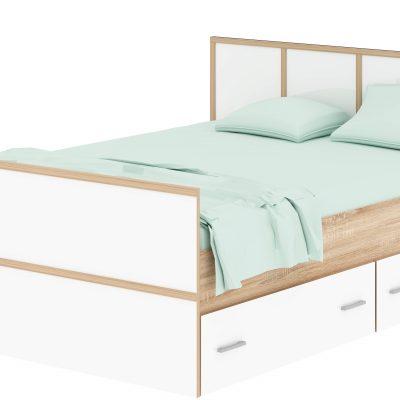 Кровать 900 с ящиками «Сакура» (п)