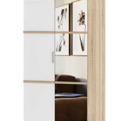 Шкаф 2-х створчатый с зеркалом «Сакура» (п)