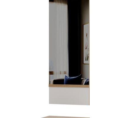 Тумба с зеркалом «Сакура глянец» (п)