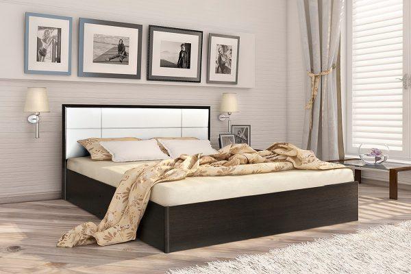 Кровать 1,4 арт.002 Вставка 1 с настилом (ДЛ)