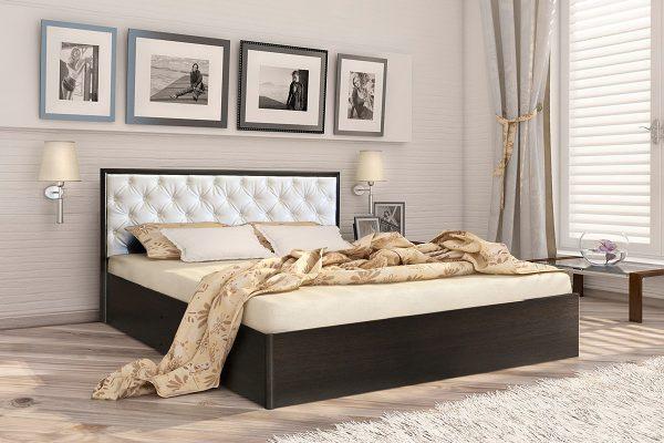 Кровать 1,4 арт.002 Вставка 2 с настилом (ДЛ)