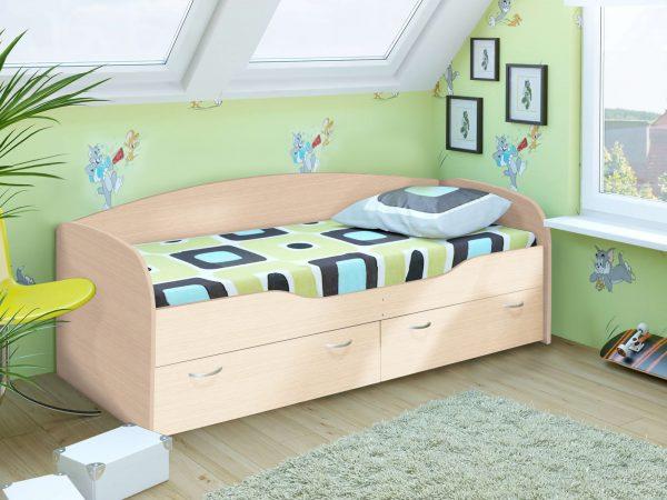 """Детская кровать 2 """"Бриз"""" дуб белфорт (дл)"""