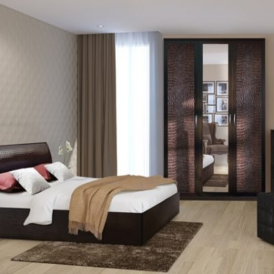 Спальня «Кэт-1» Кайман темный композиция 1 (дл)