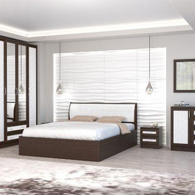 Спальня «Кэт-1» Кайман белый композиция 1 (дл)