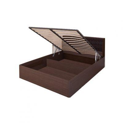 «Кэт-1» Кровать 1,6 арт. 033М Кайман темный (дл)
