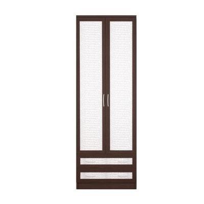 «Кэт-1» Шкаф 2-х створчатый Кайман белый VR-14 (дл)