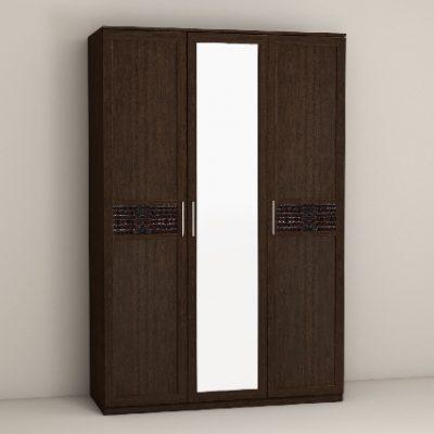 «Кэт-4» Шкаф 3-х створчатый с зеркалом (дл)