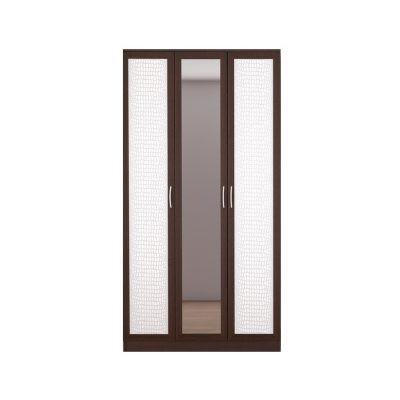 «Кэт-1» Шкаф 3-х створчатый Кайман белый VR-02 (дл)