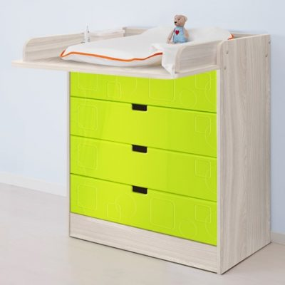 «Бриз» Пеленальный стол МДФ квадрат Лайм (дл)