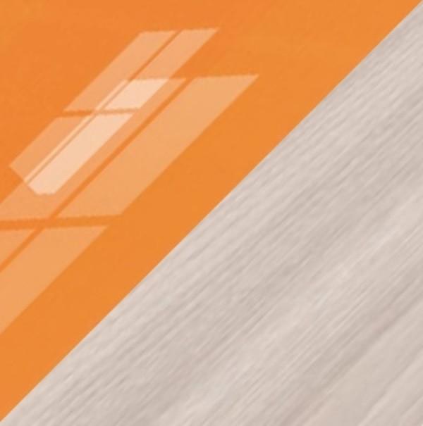 Ясень светлый/Оранжевый