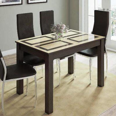 Стол обеденный «Бруно» венге/рисунок «Плитка» (т)