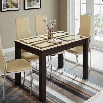 Стол обеденный «Норман» венге/рисунок «Плитка» (т)