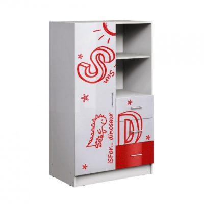 Шкаф комбинированный «Вега Алфавит» красный (м)