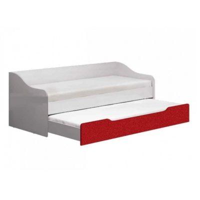 Кровать выдвижная «Вега Алфавит» красный (м)