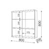 «Тиффани» М08 Шкаф навесной (рн)
