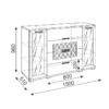 «Тиффани» М11 Комод-витрина (рн)