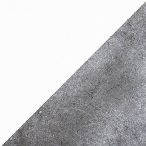 Бетон светлый/Белый глянец