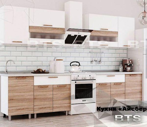 "Кухня ""Айсбери"" белый/дуб сонома 2,4 м. (б)"