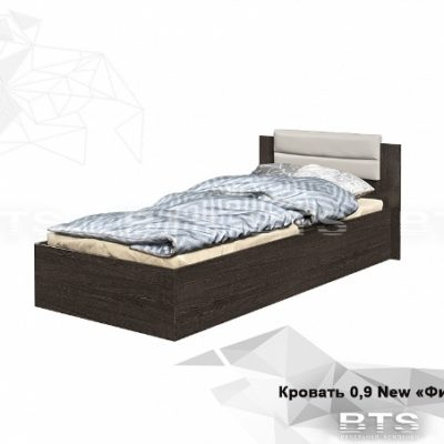 Кровать «Фиеста» 0.9 NEW с мягким изголовьем (б)