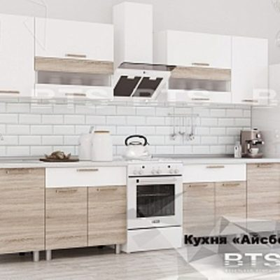 Кухня «Айсбери» белый/дуб сонома 2,4 (б)