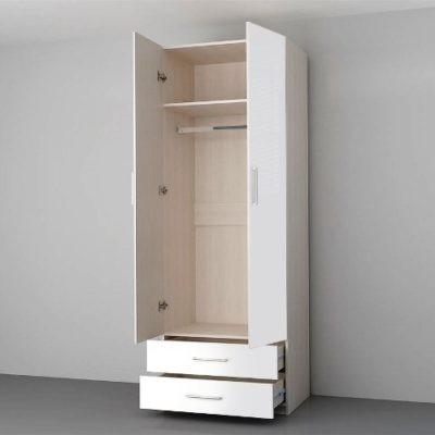 Гостиная «Аллегро 9» Шкаф 2-х створчатый глянец (дл)