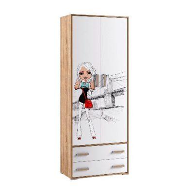«Бланка» Шкаф 2-х створчатый (т)