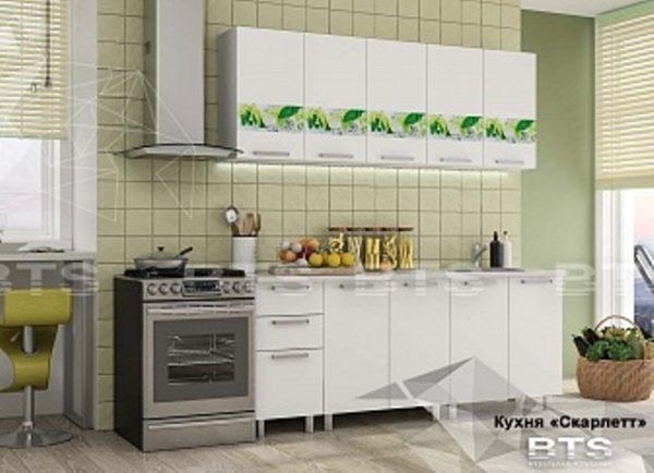 """Кухня """"Скарлет""""белый/ фотопечать 2,0 (б)"""