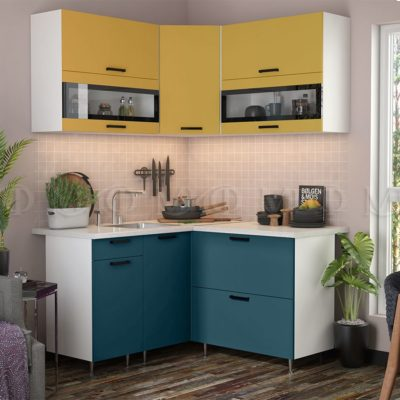 Кухня угловая 1,4*1,4 м «Техно NEW» (м)