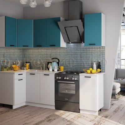 Кухня угловая 1,1*1,8 м «Техно NEW» (м)
