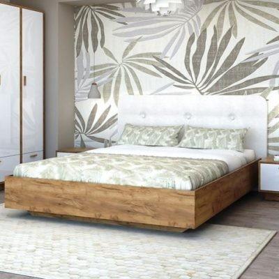 Кровать «Эго» арт. 031 с ПМ мягкий щиток (дл)