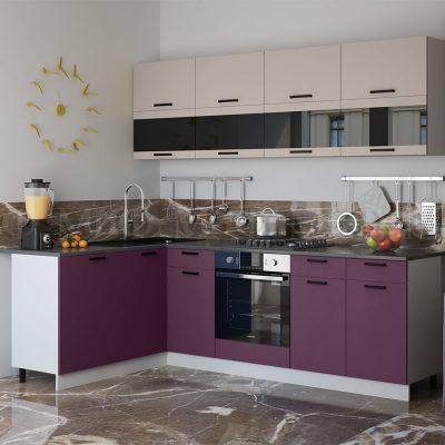 Кухня угловая 1,6*2,4 м «Техно NEW» (м)