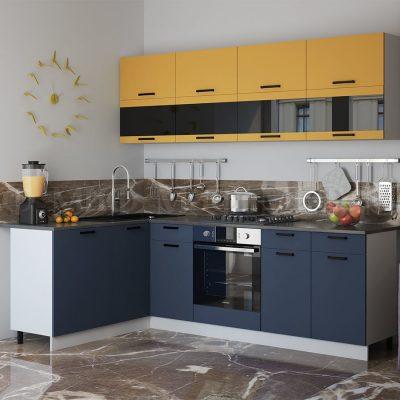 Кухня угловая 1,6*2,4 м «Техно NEW»
