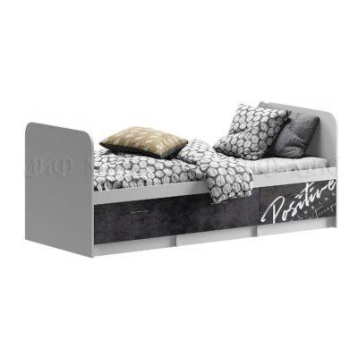 «Вега Позитив» Кровать с ящиками (м)